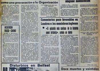 Diario Área, 9 de agosto de 1969.