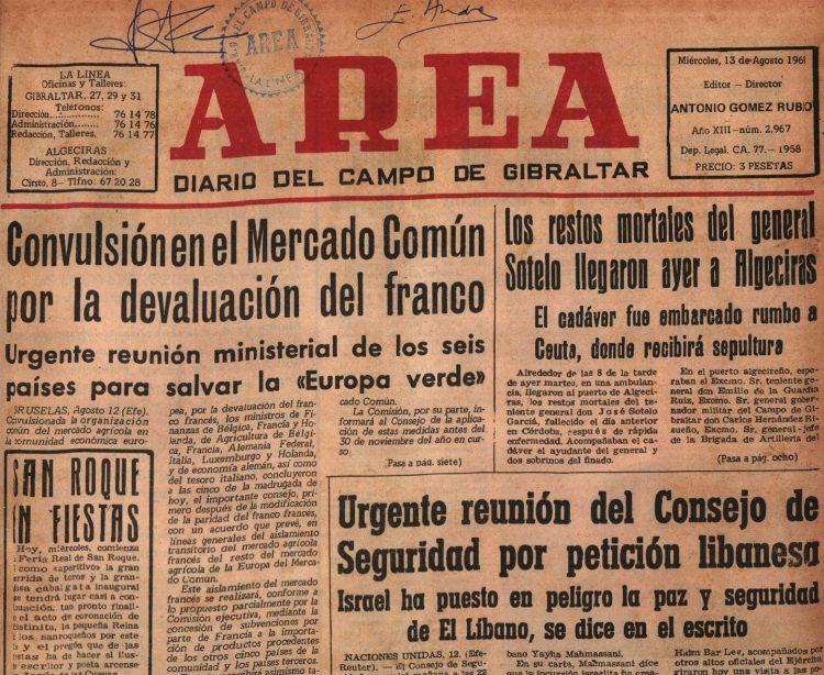Lo Que El Diario Área Contaba Tal Día Como Hoy: 13-08-69