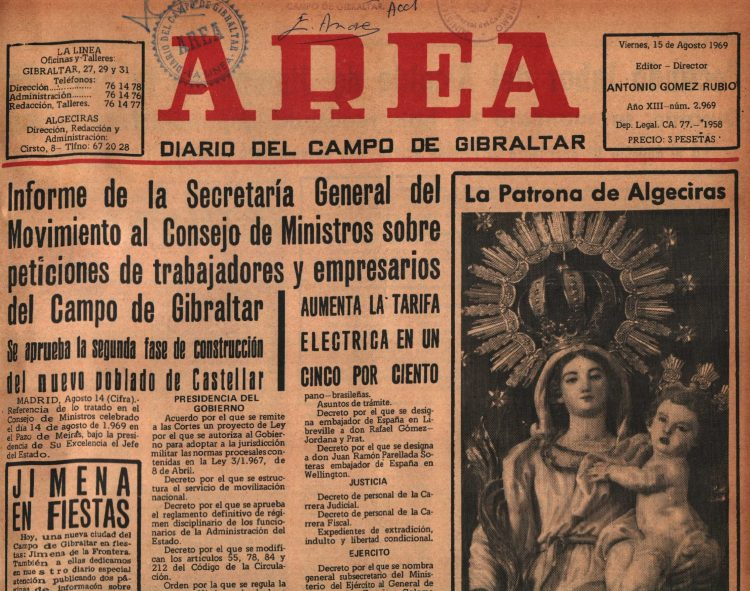 Lo Que El Diario Área Contaba Tal Día Como Hoy: 15-08-69