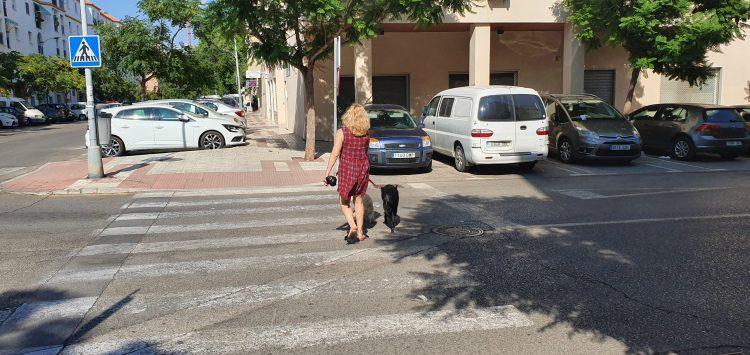 Vecinos de Huerta Nueva paseando a sus perros