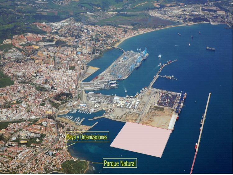 Vista aérea del Puerto de Algeciras