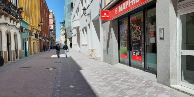 Tramo peatonal de la calle Carboneros