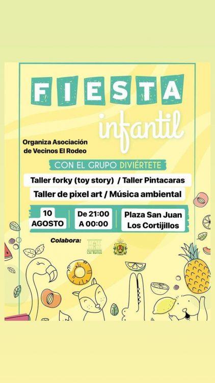 Cartel anunciador de la Fiesta infantil de Los Cortijillos