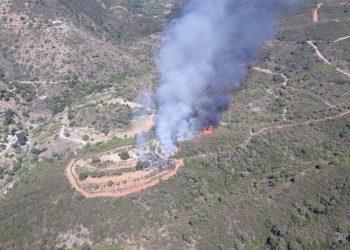 Imagen tomada desde un helicóptero del Infoca.