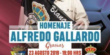 Cartel anunciador del partido homenaje a Alfredo Gallardo