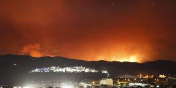 Incendio forestal en Sierra Bermeja en Estepona