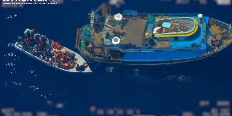 Una de las imágenes captadas por la agencia Frontex