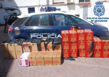 La Policía Nacional se incauta de 15.500 cajetillas de contrabando en La Línea.