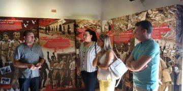 La diputada, Lucía Trujillo, en la Casa de la Memoria de Jimena de la Frontera.