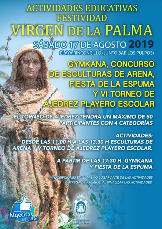 Cartel de las actividades educativas de la Palma