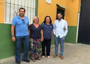 Responsables del PSOE barreño visitaron Palmones