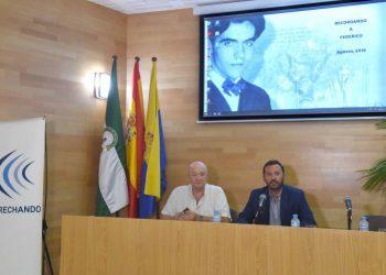 Patricio González y Francisco Javier Rodríguez Ros, en el acto