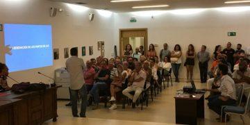 Reunión del alcalde con comerciantes