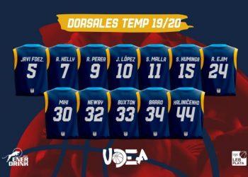 Enerdrink UDEA Algeciras ha asignado los dorsales de su plantilla