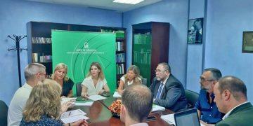 Ana Mestre durante la reunión mantenida en la subdelegación del gobierno de la Junta en Algeciras