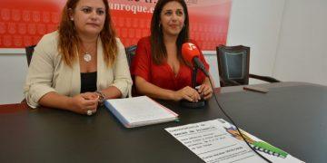 Mónica Córdoba y Belén Jiménez, ante la prensa