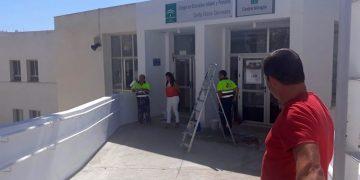 Belén Jiménez ha supervisado las obras en centros educativos