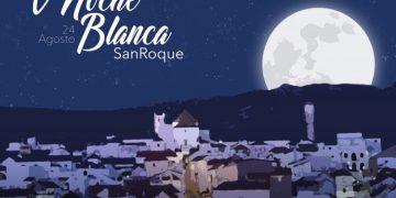 Cartel oficial de la V Noche Blanca de San Roque.