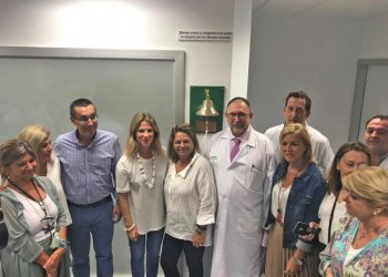 Presentación de la Campana de los sueños en el Hospital de La Línea.