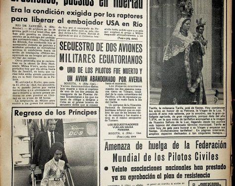 Diario Área. 7 de septiembre 1969.