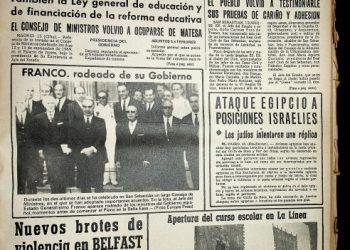 Portada del diario Área tal día como hoy de 1969