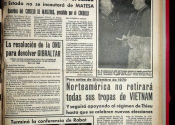 Diario Área, 27 de septiembre de 1969.
