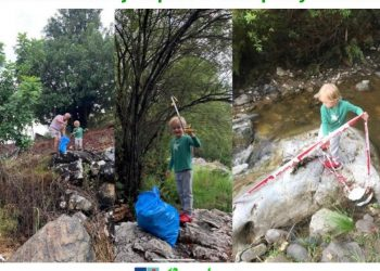El niño recogiendo la basura en Benahavís
