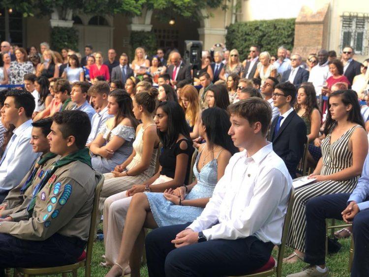 Un momento de la ceremonia del Premio Duque de Edimburgo en Gibraltar