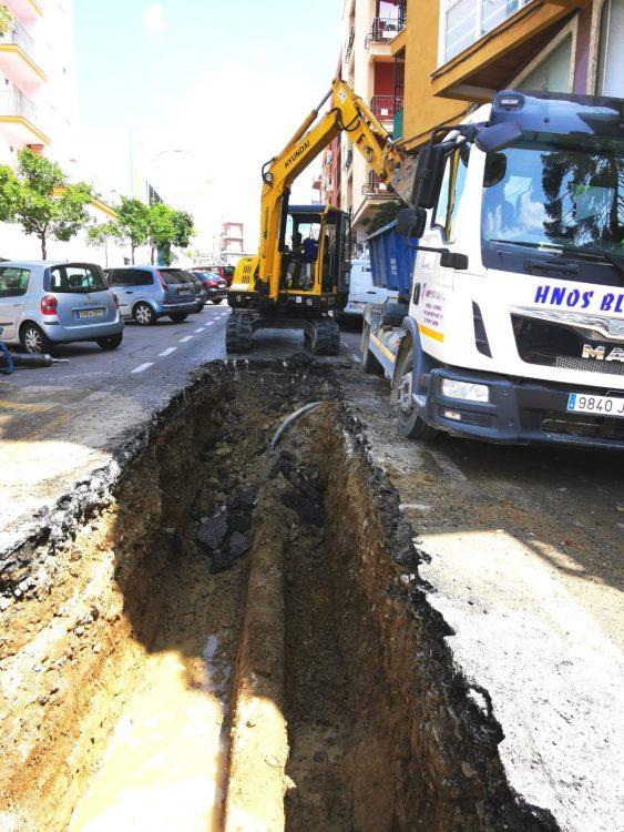 Imagen de la calle, aportada por el PSOE