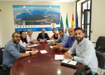 Integrantes de la Junta de Gobierno de Mancomunidad, reunidos