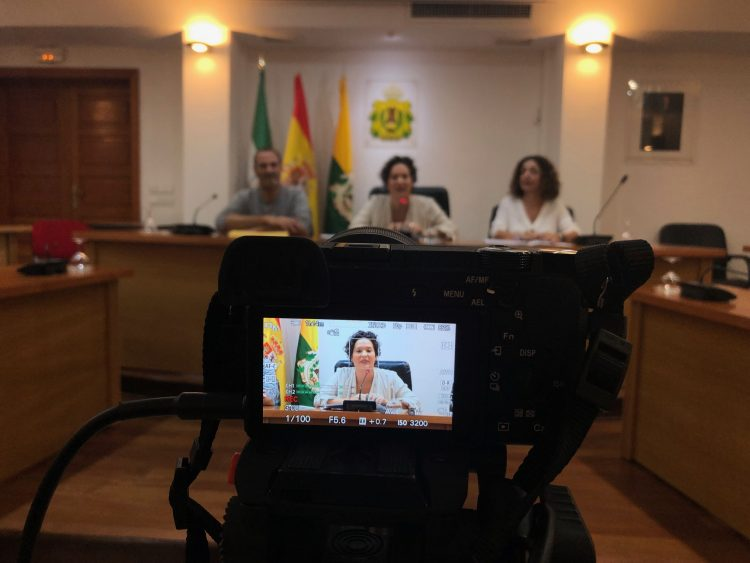 Sara Lobato, en rueda de prensa