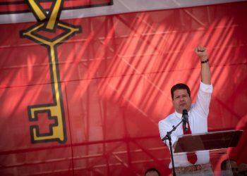 Fabian Picardo se dirige a los gibraltareños. Marcos Moreno