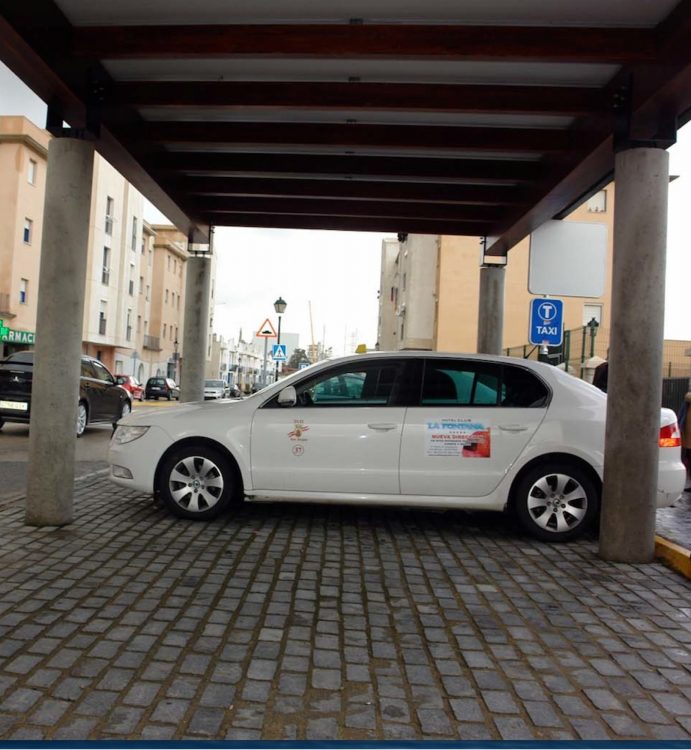 Un taxi en San Roque