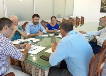 Juan Franco, reunido con sus tenientes de alcalde