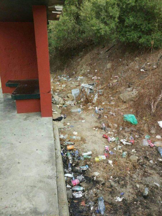 Imagen aportada por Verdemar de la basura acumulada