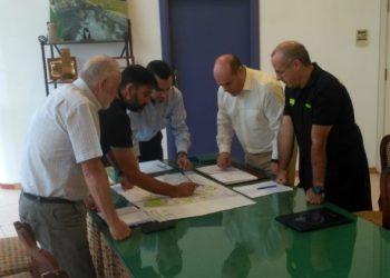 Reunión sobre el nuevo Parque de Bomberos de La Línea.