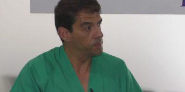 El doctor Sánchez Muñoz durante su entrevista.
