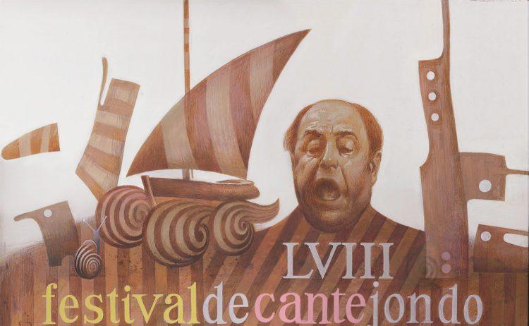 Cartel anunciador del Festival flamenco