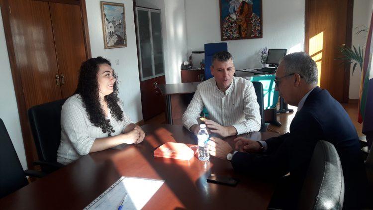 Barea, Gómez y Lozano, reunidos en el Ayuntamiento de Jimena