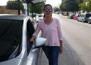 La taxista jimenata Sonia Torres
