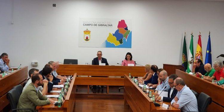 Un momento de la reunión del CES en la sede de la Mancomunidad, este martes.
