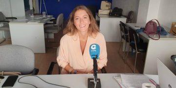 Lola Ortiz en el estudio de COPE en Estepona