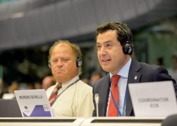 Juanma Moreno interviene en el plenario del Comité de Regiones de la UE