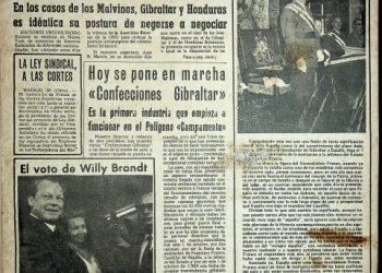 Diario Área, 1 de octubre de 1969.