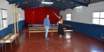 Visita al gimnasio del CEIP María Reboloso de Taraguilla