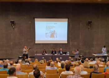 Numeroso público acudió a la presentación del libro en el Palacio de Congresos.