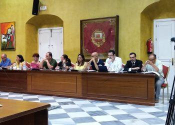 Imagen de la oposición sanroqueña, en un pleno