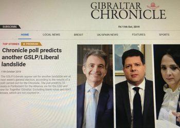 La encuesta del Chronicle da ganadora a la Coalición GSLP-Liberal