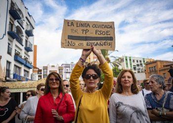 Una de las manifestantes, del pasado sábado contra el brexit. Marcos Moreno
