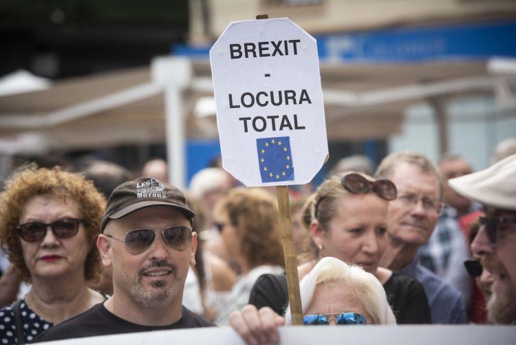 Manifestación contra los efectos del Brexit. Marcos Moreno